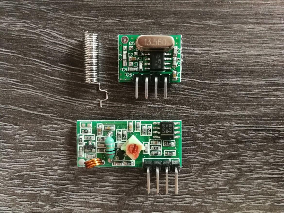 Complete Set 433 Mhz Zender, Ontvanger En Antenne
